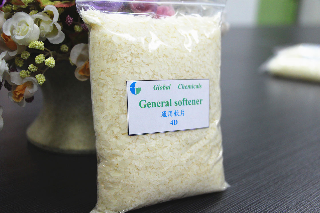 Pale Yellow General Softener Flake SOULBIO 4D Dyeing House Use