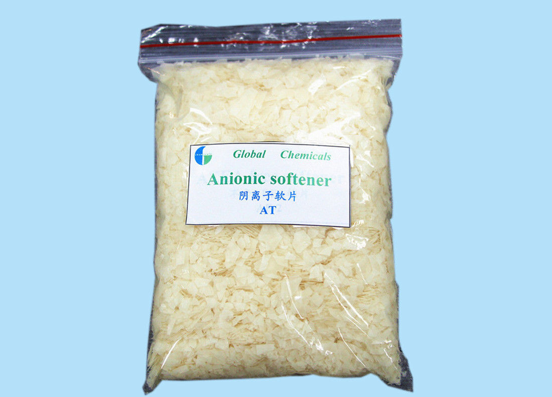 Textile Finishing Agent Hydrophilic Anionic Softener Flakes Low Yellowing