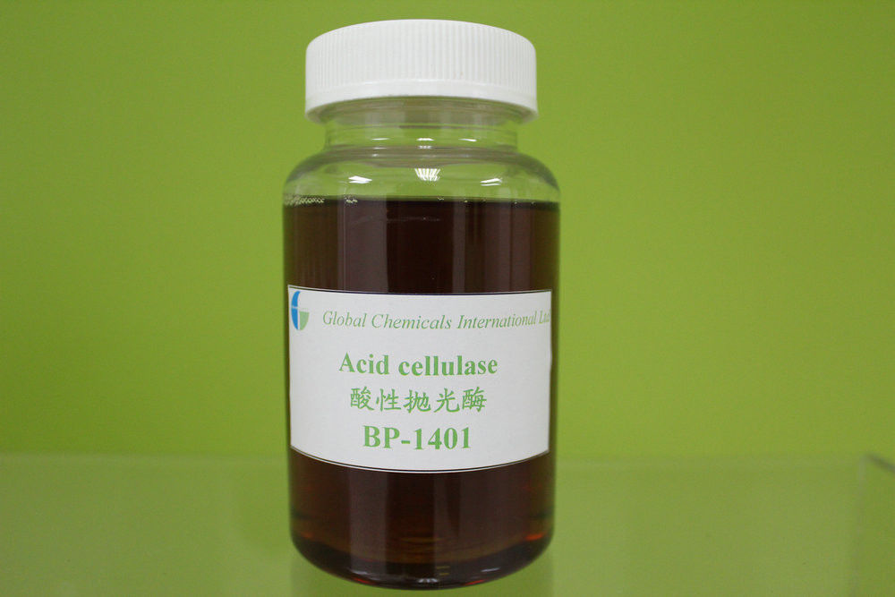 Acid Cellulase Bio-polishing Enzyme , Textile Biopolishing Treatment Enzymes